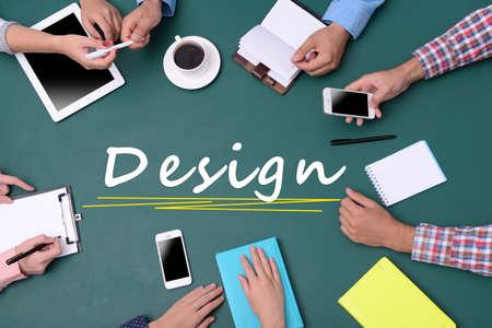 smart goals: People hands in creative meeting. Teamwork Concept