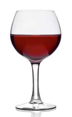 copa de vino: Copa de vino tinto, aislado en blanco
