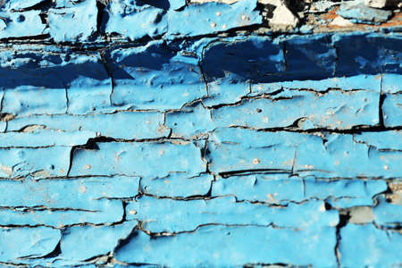 vandal: Peeling paint on old wooden window Stock Photo