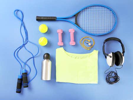 スポーツ用品や t シャツの色表、平面図に