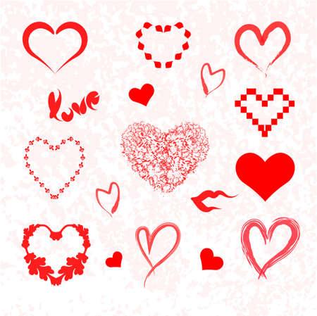 vector hearts: Vector hearts set