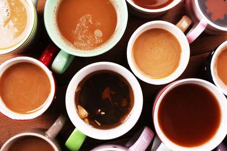 Cups of cappuccino, closeup Фото со стока - 48083064