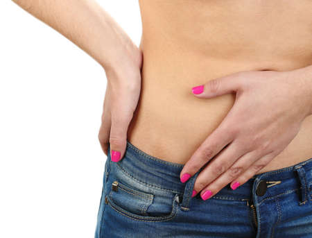 abdominal pain: Abdominal pain in young girls close up