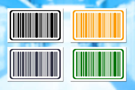 brindled: Bright bar codes on abstract background. Vector image Stock Photo