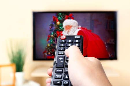 christmas movies: Christmas shows on TV Stock Photo