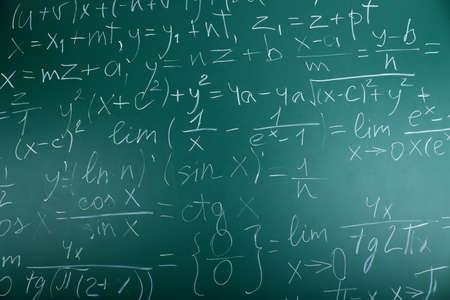 Wiskundige formules op bordachtergrond Stockfoto