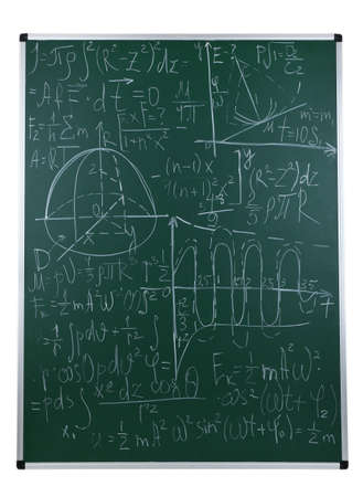 color theory: Maths formulas on chalkboard background