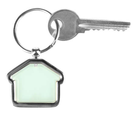 trinket: Keys with trinket isolated on white