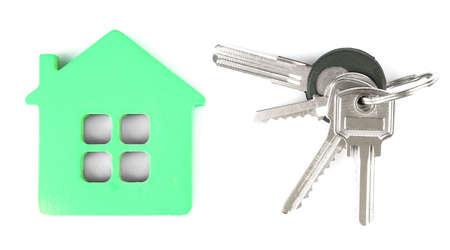 passkey: Keys with trinket on light background