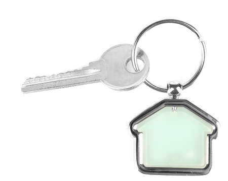 trinket: Keys with trinket isolated on white