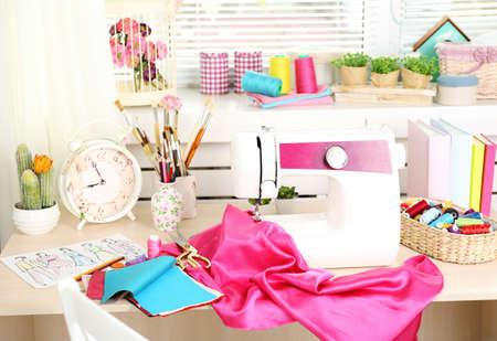 comfortable: Beautiful comfortable seamstress workplace