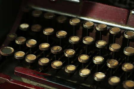 classical mechanics: Retro typewriter, closeup Stock Photo