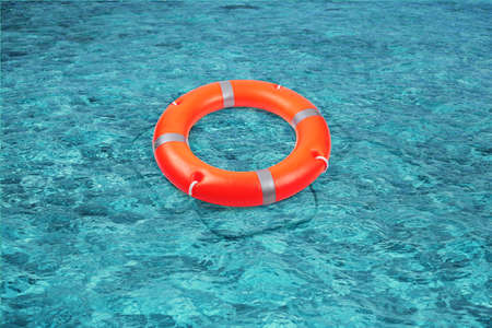 ocean and sea: A life buoy for safety at sea