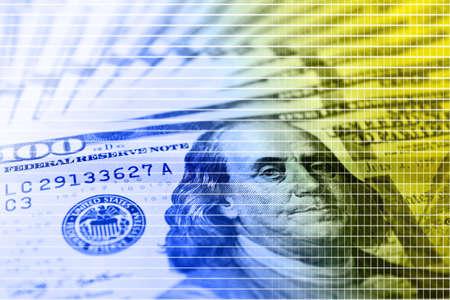 fan shaped: Many hundred dollars cash money as background