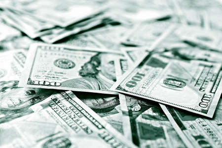 Viele hundert Dollar Bargeld als Hintergrund