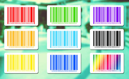 brindled: Bright bar codes on abstract background.