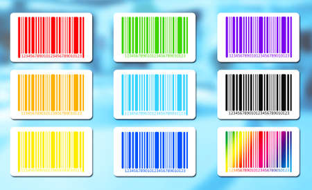 bar codes: Bright bar codes on abstract background.