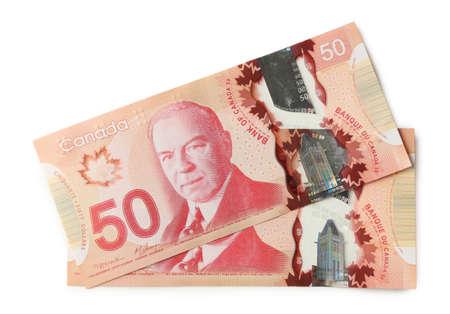 Kanadischen Dollar, isoliert auf weiß