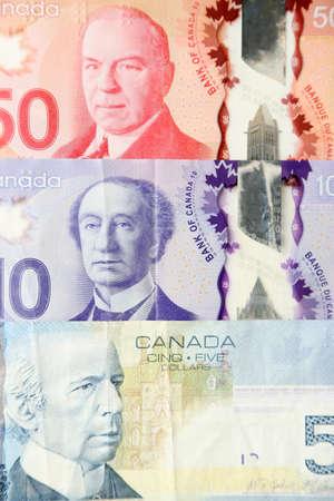 close up: Canadian dollars, close up