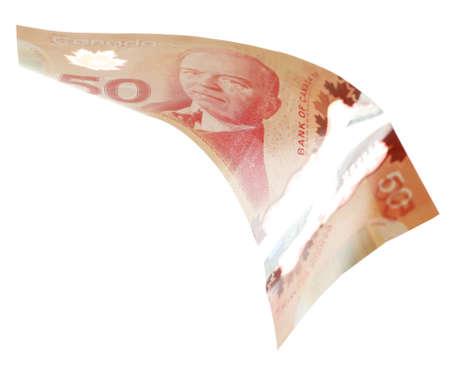 Canadian 50 Dollar, isoliert auf weiß
