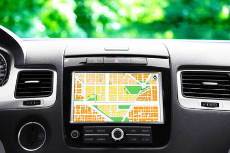 car navigation: Navigation system in car