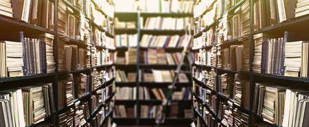 Library bookshelves background