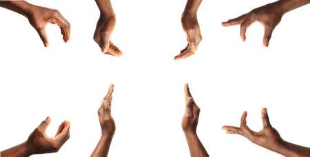 화이트, 남성의 손 제스처의 설정 스톡 콘텐츠 - 51719765