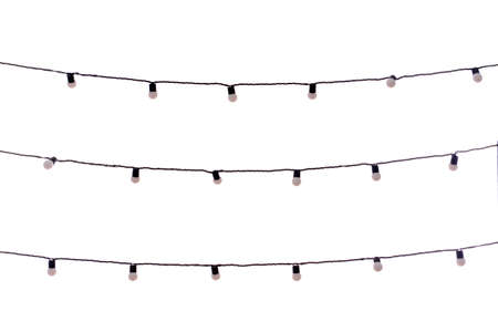 festoon: Christmas garland bulbs isolated on white
