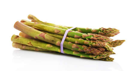 Fresh asparagus isolated white