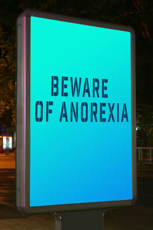 citylight: Advertise city-light with text Beware of Anorexia