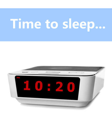 lateness: Digital clock showing 10:20 oclock isolated on white