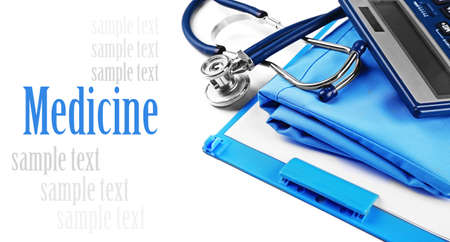medical supplies: Medical supplies isolated on white Stock Photo