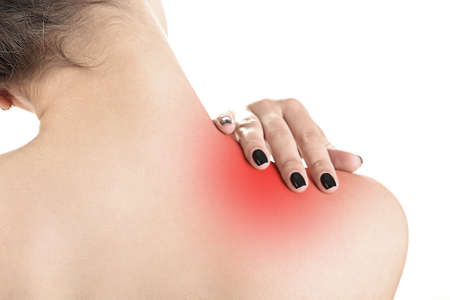 enhanced health: Back pain in young girls close up