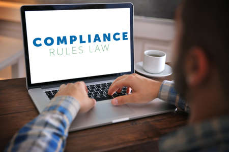 information technology law: Compliance rules law concept Stock Photo