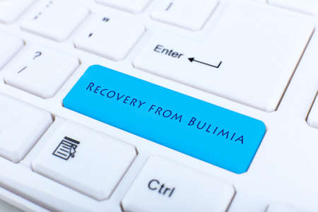 gastroenterology: Close up of Recovery from Bulimia keyboard button Stock Photo