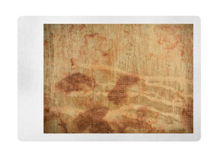 old photo: Old grungy photo isolated on white Stock Photo
