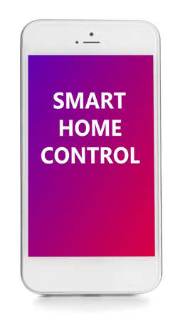 temperature controller: Smart home app installing on phone. Smart home control concept.