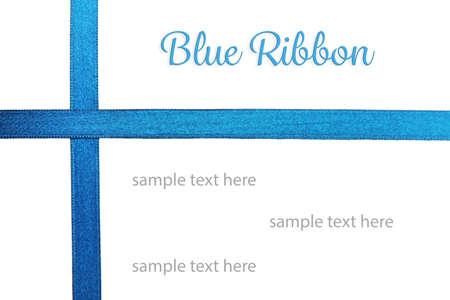 blue satin: Blue satin ribbon isolated on white