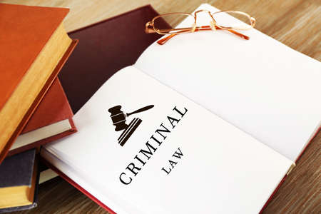 criminal: Open book with words criminal law