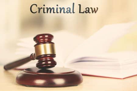 criminal: Criminal law concept Stock Photo