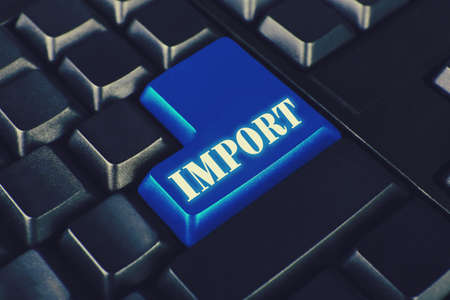 importer: Close up of Import keyboard button