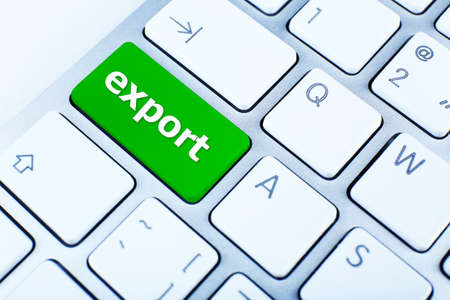 importer: Close up of Export keyboard button Stock Photo