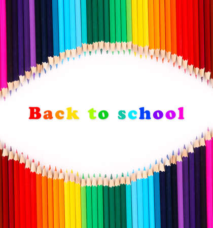 Colorful pencil crayons, Back to School concept Stock Photo