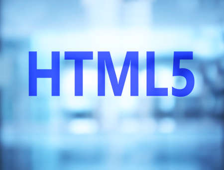 HTML5 concept. Abstract background
