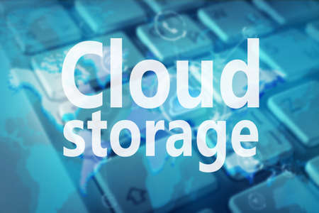 Cloud storage concept. Abstract background Stock Photo