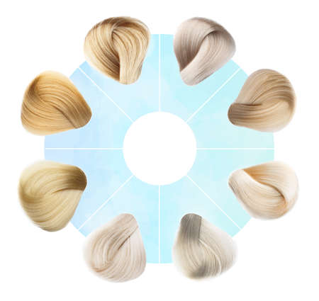 Hair Colors Set. isolated on a white background Stock Photo