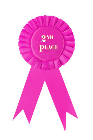 Second place ribbon award on white background.