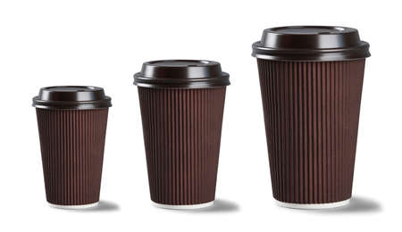 Coffee cups isolated on white Stock Photo