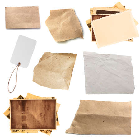 Paper textures background, isolated on white