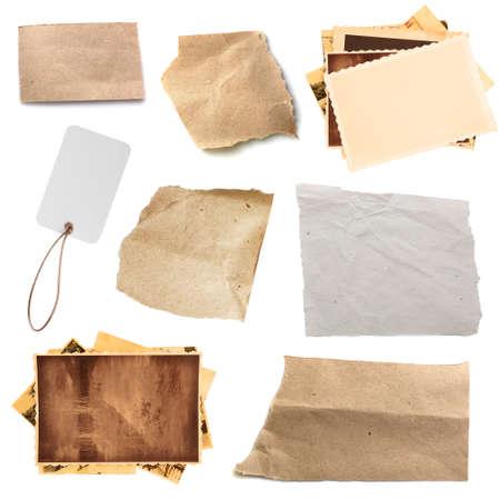 Sfondo di texture di carta, isolato su bianco Archivio Fotografico - 83212776